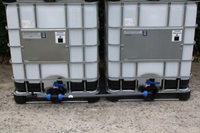 Tankverbindung DN50 nebeneinander - mit 40mm Verrohrung - für 2 Tanks