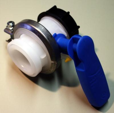 Werit Schiebehahn DN50 / PCP / Griff blau