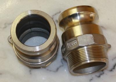 Adapter 2 Zoll AG auf 2 Zoll Kamlok Vaterteil (V4A 1.4408)