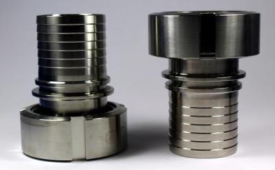 "IBC ADAPTER 360° V4A SHS - DN50 S60x6 IG auf Schlauchtülle 2"" (50mm) - EPDM - drehbar"
