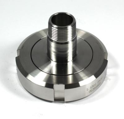 """ADAPTER 360° V4A - Milchgewinde Kegelstutzen DN50 RD78 1/6 auf 3/4"""" AG - drehbar"""