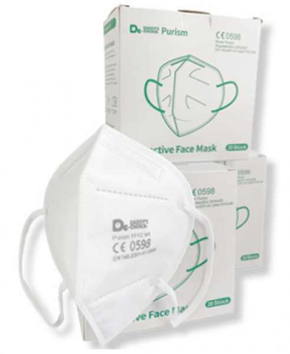 FFP2 Atemschutzmaske (CE 0598 - ohne Ventil)