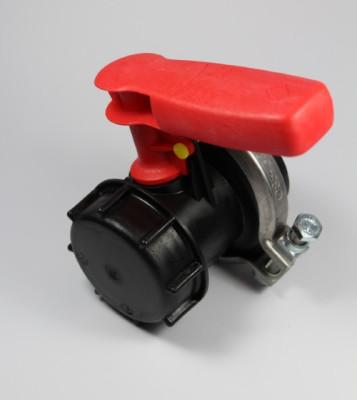 Werit Schiebehahn DN50 / UV-Schutz / Ringschelle