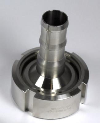 "IBC ADAPTER 360° V4A - DN50 S60x6 IG auf Schlauchtülle 1"" (25mm) - EPDM - drehbar"