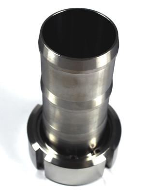 "IBC ADAPTER 360° V4A - DN50 S60x6 IG auf Schlauchtülle 2"" (50mm) - EPDM - drehbar"