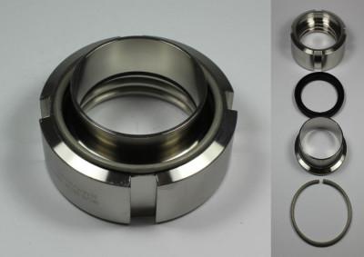 IBC ADAPTER 360° V4A - DN50 S60x6 IG auf 35x1,5 mm Schweißende - EPDM - drehbar