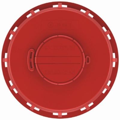 "IBC Deckel NW150 - rot - G2""-Bel.-Vent. - TPE-V - NBR-Membrane"