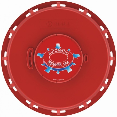IBC Deckel NW150 - rot- G2-Bel.-Entl.-Vent. - TPE-V - FKM-Membrane