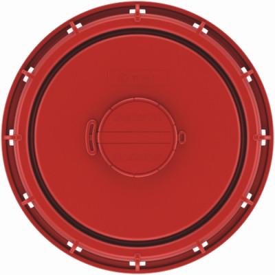 IBC Deckel NW225 - rot - G2-Entl.-Vent + EPDM