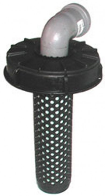 Deckelfilter NW150 auf HT-Bogen DN70 90°