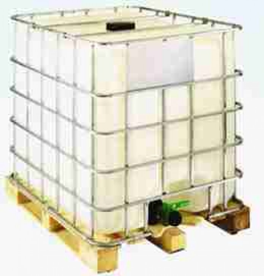 IBC 1000-150/50 - UN-Zulassung - natur - Holzpalette - rekonditioniert WII