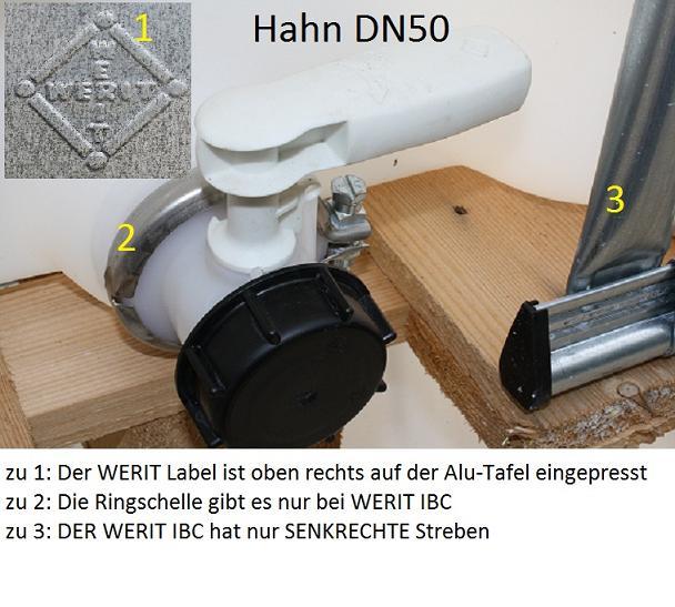 werit hahn dn50 epdm griff rot ibc hahn f r regenwassertank ibc container ebay. Black Bedroom Furniture Sets. Home Design Ideas