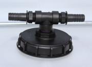 IBC Deckel NW150 mit T-Stück und 2 Schlauchtüllen