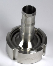"IBC ADAPTER 360° V4A SHS - DN50 S60x6 IG auf Schlauchtülle 1"" (25mm) - EPDM - drehbar"