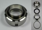 IBC ADAPTER 360° V4A - DN50 S60x6 IG auf 53x1,5 mm Schweissende - EPDM - drehbar