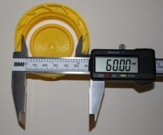 IBC Hahn-Kappe DN50 S60x6 gelb  - mit PE Schaum Dichtung